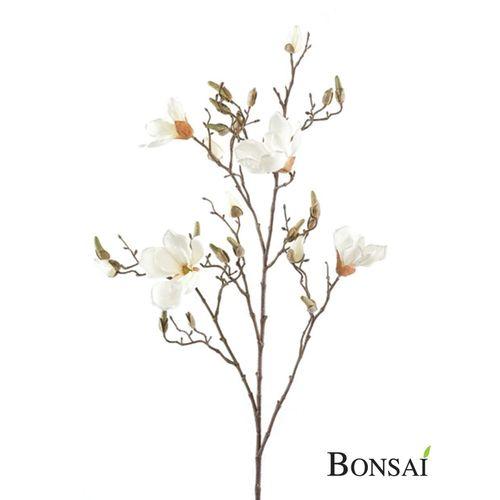 Künstliche Magnolia Zweig 100cm creme