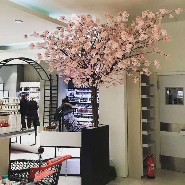Blossom tree - Kirschbaum 🍒  ✨custom made ✨  #kirschbaum #blossom #blossomtree #handmade #einrichtung #interior #architektur #cherrytree #artificialflowers #kunstplanten #kunstbaum #dekoideen #artificialtree #blossomtrees #trending